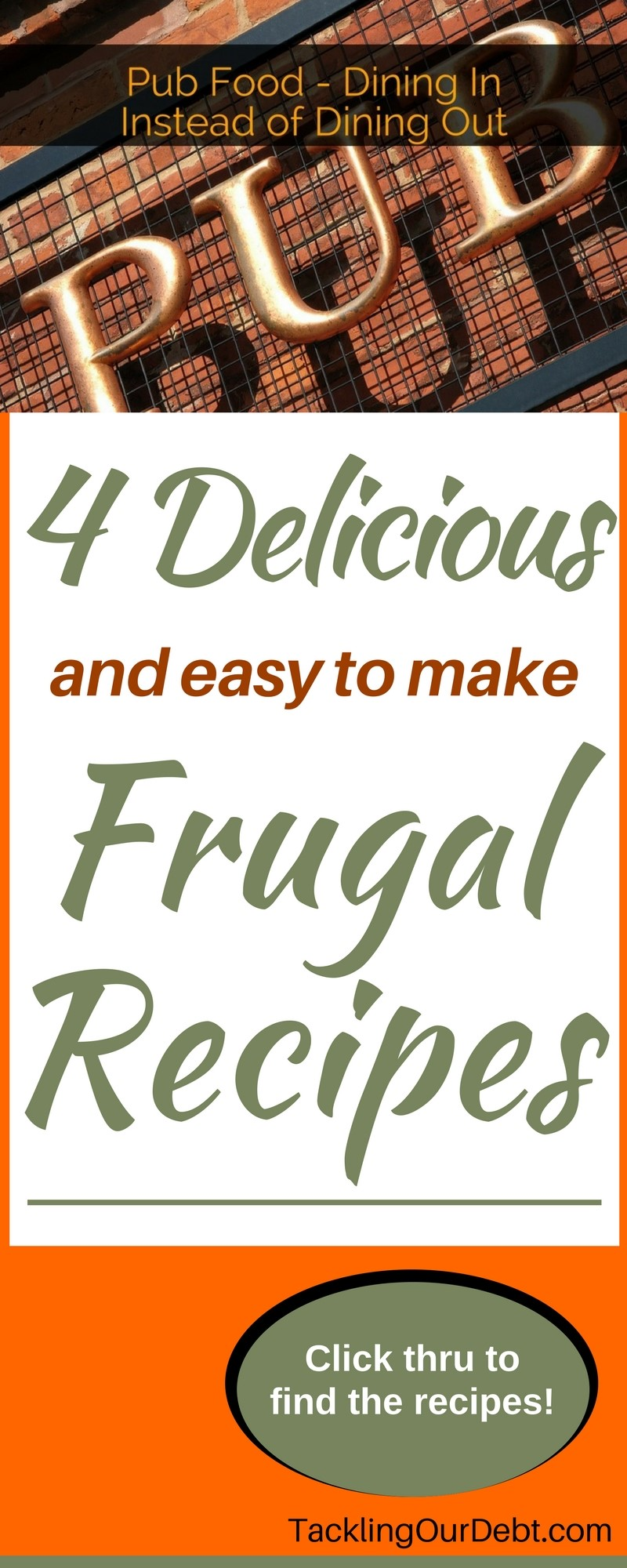 Save money by dining in while still having fun, when you make these four delicious and easy frugal recipes that the whole family will love. Click thru to find the recipes!