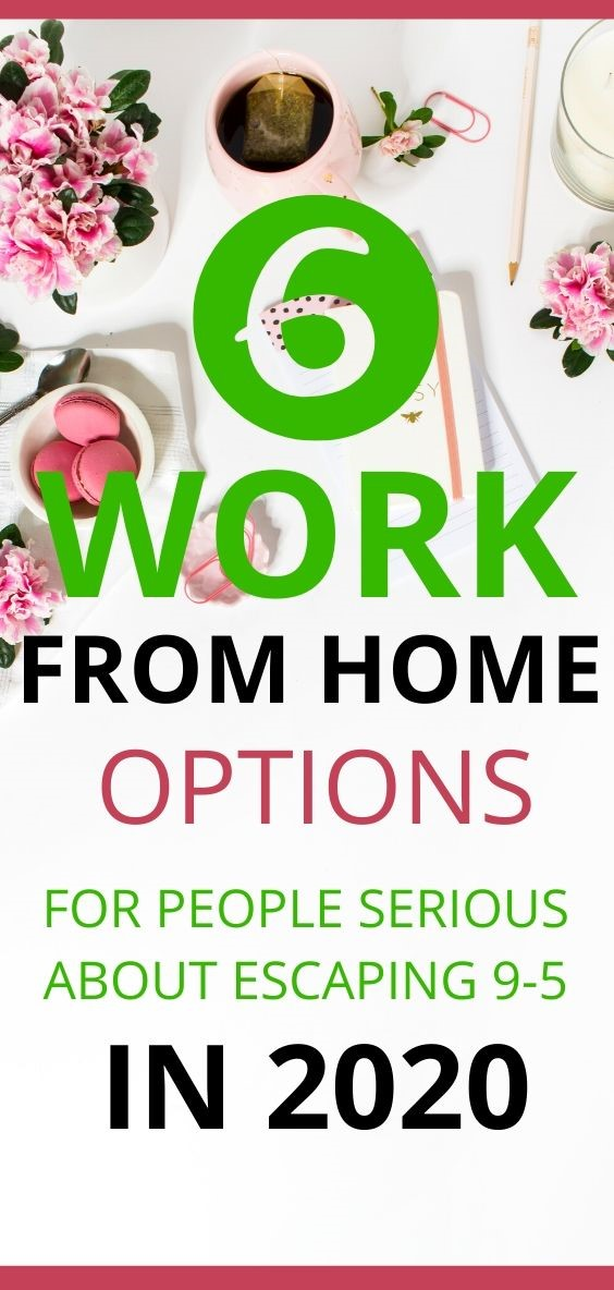 Six Work From Home Job Options