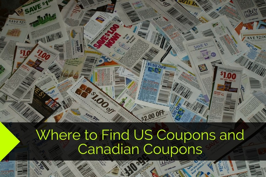 Where to Find US Coupons and Canadian Coupons