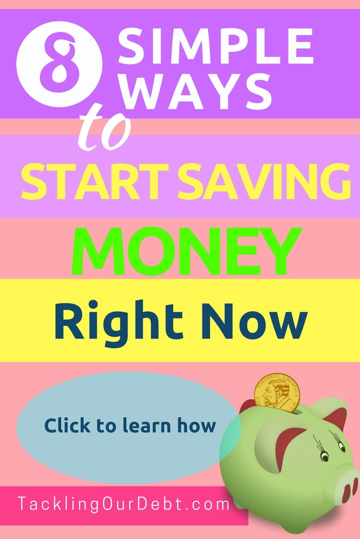 Eight simple ways to start saving money right now