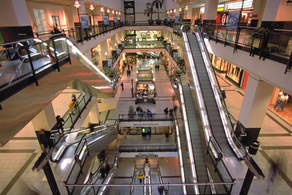 montreal underground shopping mall