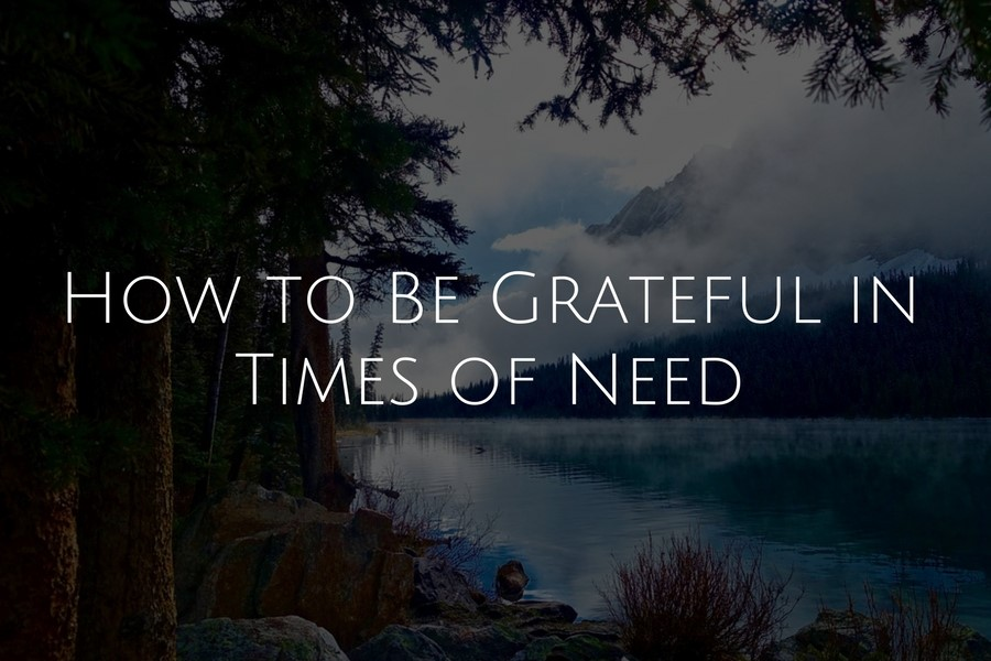 How to Be Grateful in Times of Need