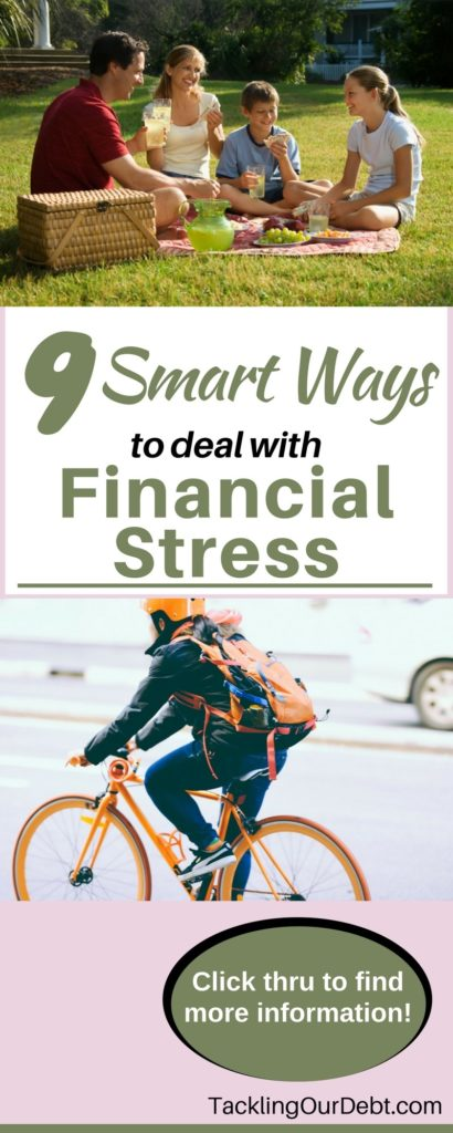 If you too are worried about your finances here are nine smart ways to deal with financial stress. Click thru to find more information!