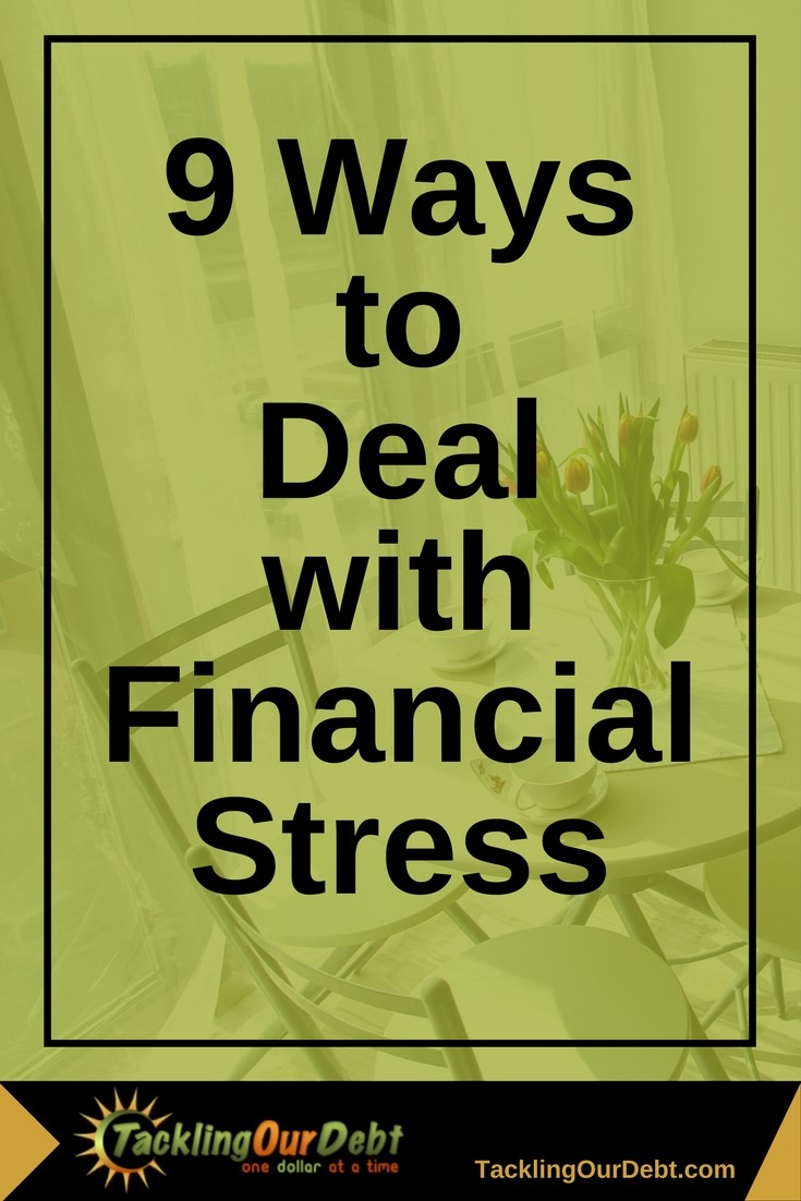 finding ways to deal with financial stress