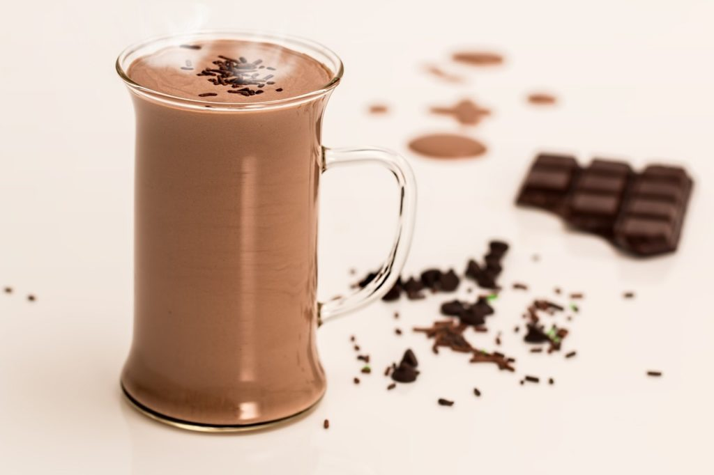 Drink hot dark chocolate to improve your health.