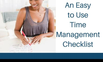 An Easy to Use Time Management Checklist