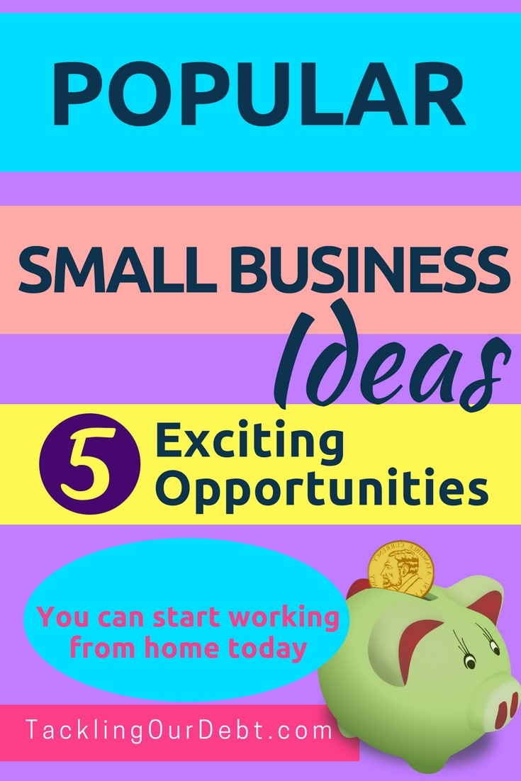 Here are 5 very popular small business ideas that will continue to be excellent choices. The greatest thing about these small business ideas is that they can each be started with little or no money.