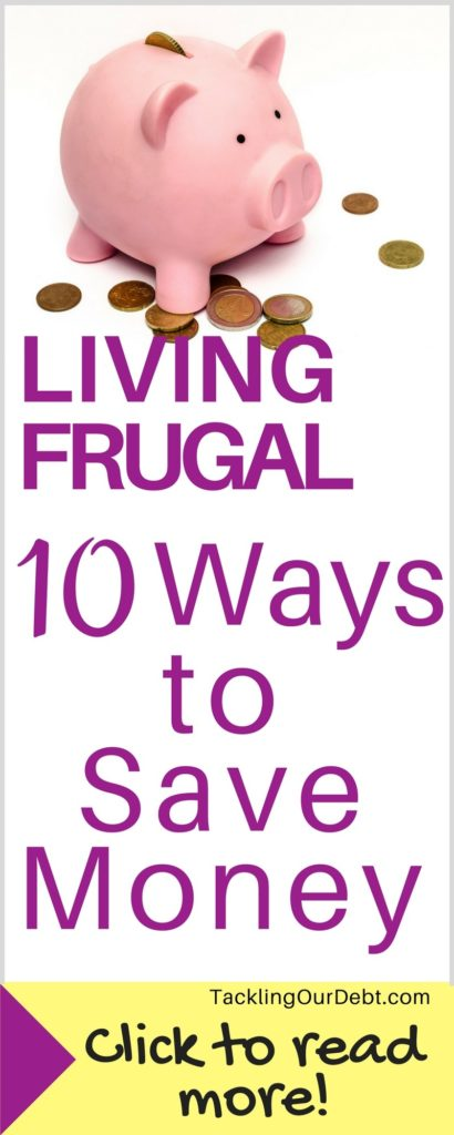 Living Frugal - 10 Easy Ways to Save Money. Click thru to learn more!