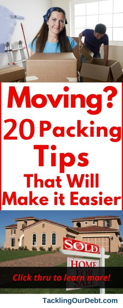 The process of moving from one home to another is always stressful, but perhaps the worst part of the job is packing. Moving: 20 Packing Tips That Will Make It Easier. Click thru to learn more!