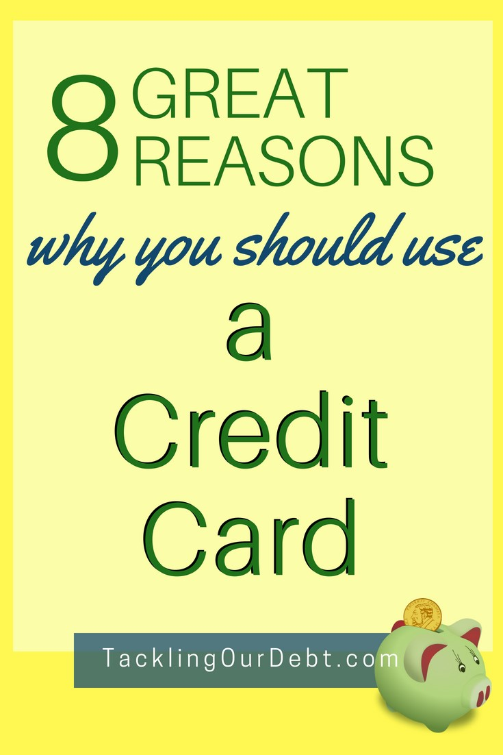 Happy to share this as it is so important - Eight Great Reasons Why You Should Use a Credit Card