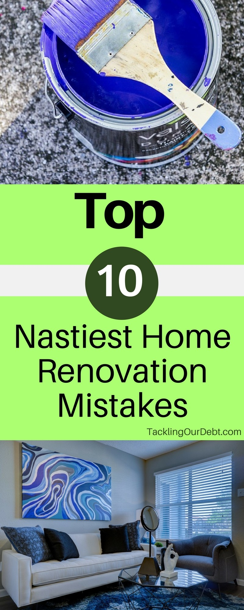 Renovating your home can be both exciting and stressful. While the thought of fixing anything that is outdated, and renovating the look and feel of your home is a lot of fun, actually doing the work or hiring someone to do the work for you, can quickly become frustrating, especially if this is your first time. Before you begin any home renovation project you want to read this, and make sure to avoid all of these nasty home renovation mistakes.