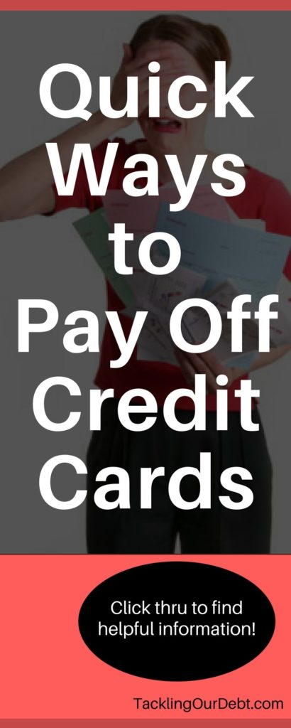 Quick ways to pay off credit cards. Click thru to learn more!