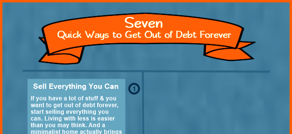Seven Quick Ways to Get Out of Debt Forever