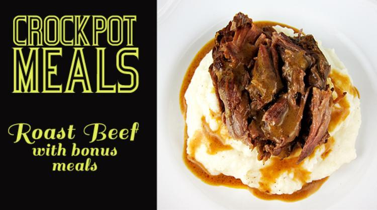 Crockpot Coke Roast Beef with Easy Remix Meals