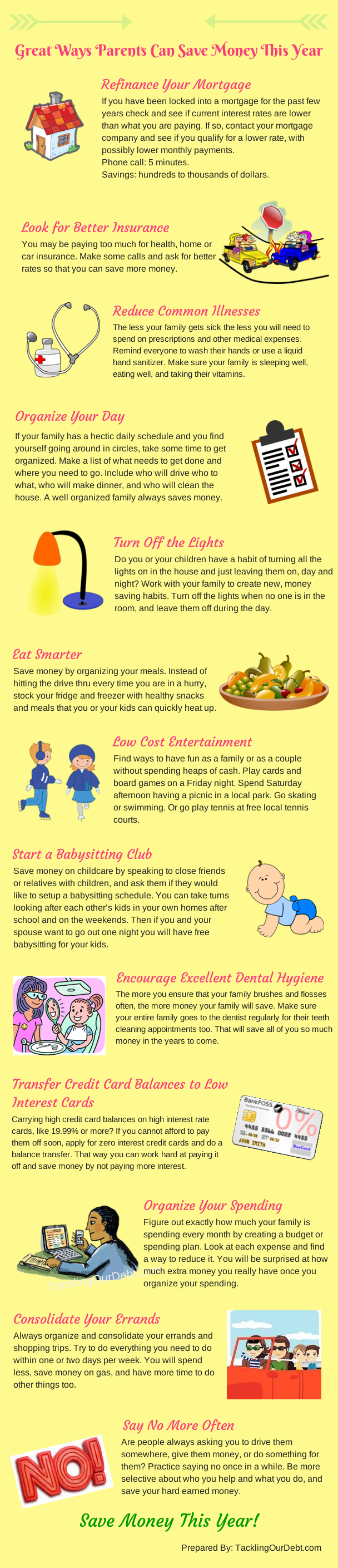 Infographic Great Ways Parents Can Save Money This Year