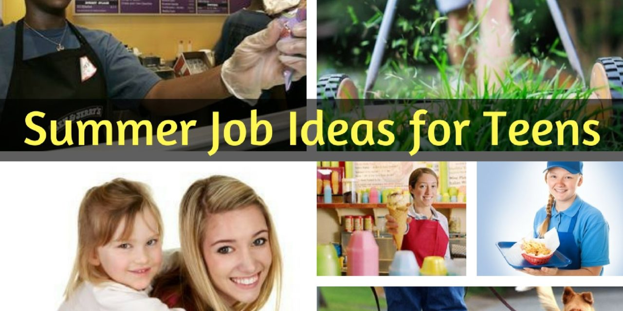 Summer Job Ideas for Teens