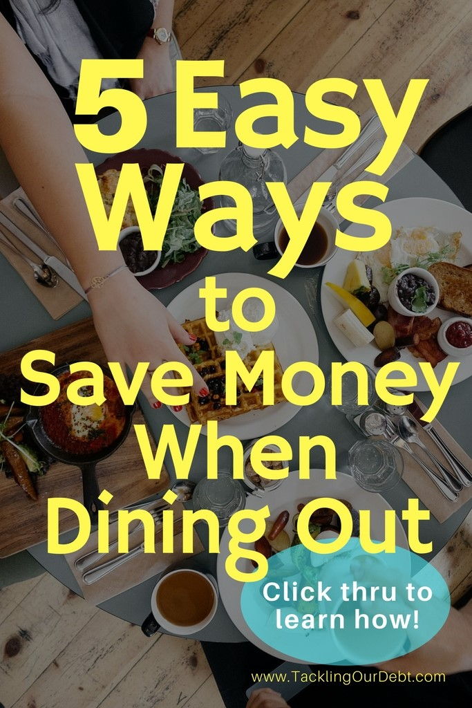 Five easy ways to save money when dining out. Are you on a tight budget but love dining out with your friends and family? Dining out on a tight budget can actually be very easy, and by following these simple tips, you will save money every single time. Click thru to learn how.