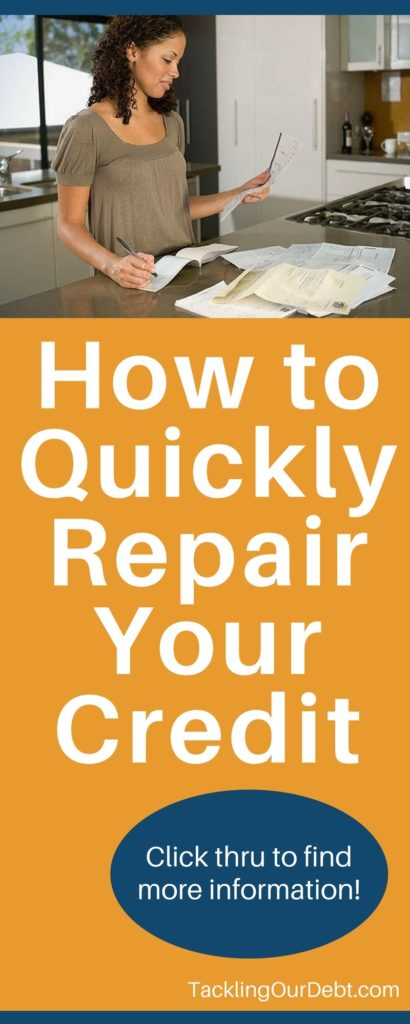 How to quickly repair your credit. Click thru to learn more!