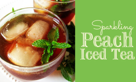 My Favorite Sparkling Peach Iced Tea