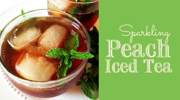 My Favorite Sparkling Peach Iced Tea