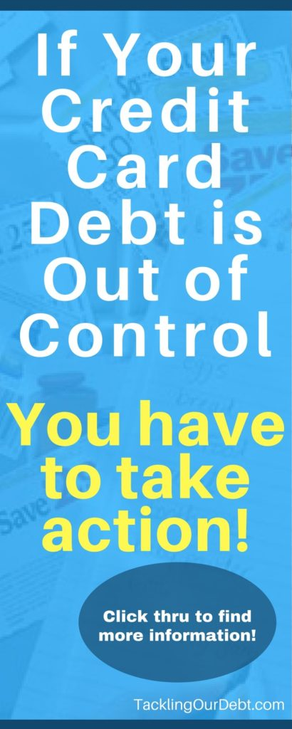 If your credit card debt is out of control you need to take action! Click thru to find more information!