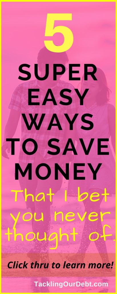 Five super easy ways to save money that I bet you never thought of. #frugalliving