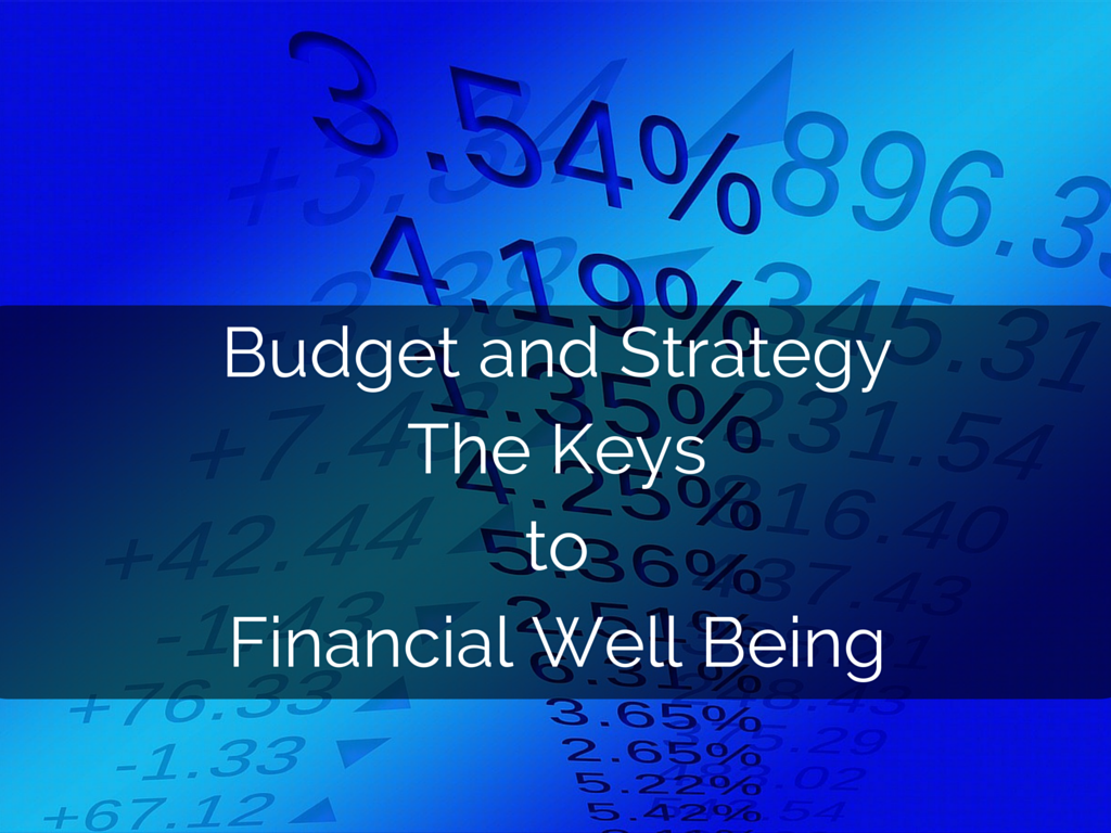 Budget and Strategy – The Keys to Financial Well Being