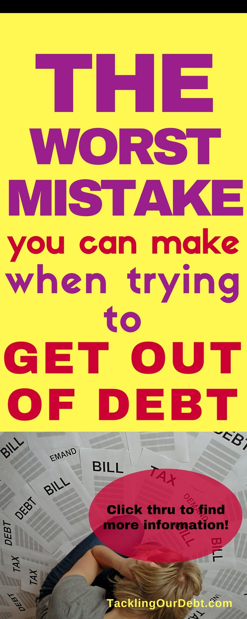 When in debt and trying to sort out your personal finances, this is the worst mistake you can make when trying to get out of debt.